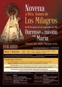Cartel Novena Los Milagros 2015