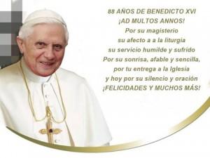 Benedicto XVI cumple