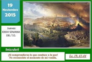 Jueves XXXIII Ordinario