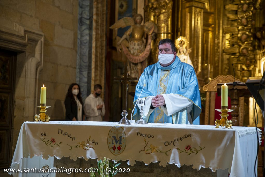 Eucaristía con medidas de seguridad
